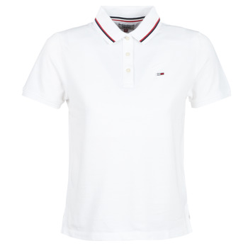 Vêtements Femme Polos manches courtes Tommy Jeans TJW TOMMY CLASSICS POLO Blanc