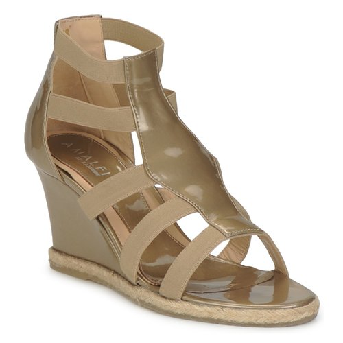 Chaussures Femme Sandales et Nu-pieds Amalfi by Rangoni LEMA Vernice / Taupe