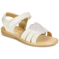 Chaussures Fille Sandales et Nu-pieds Citrouille et Compagnie JAFILOUTE Blanc