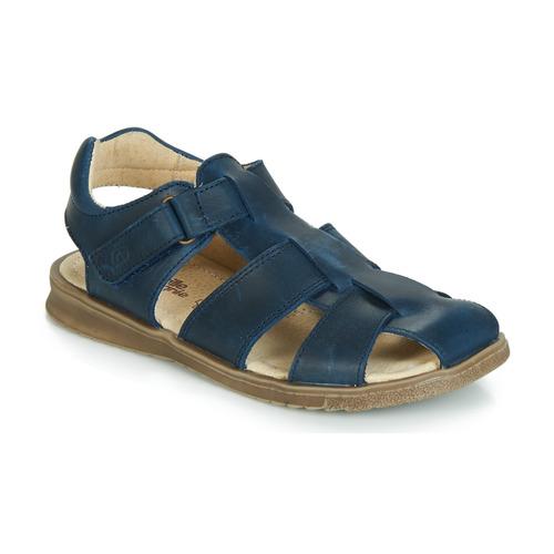 Chaussures Garçon Sandales et Nu-pieds Citrouille et Compagnie JALIDOU Bleu foncé