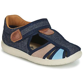 Chaussures Garçon Sandales et Nu-pieds Citrouille et Compagnie JOLIETTE Jean / bleu / beige