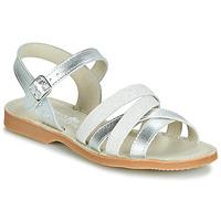 Chaussures Fille Sandales et Nu-pieds Citrouille et Compagnie JAGUINOIX Gris argenté