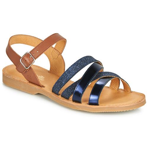 Chaussures Fille Sandales et Nu-pieds Citrouille et Compagnie JARDINA Marine / Camel