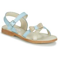 Chaussures Fille Sandales et Nu-pieds Citrouille et Compagnie JISCOTTE Bleu clair