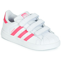 Chaussures Fille Baskets basses adidas Originals SUPERSTAR CF I Rose