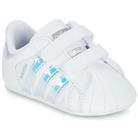 Chaussures Fille Baskets basses adidas Originals SUPERSTAR CRIB Blanc