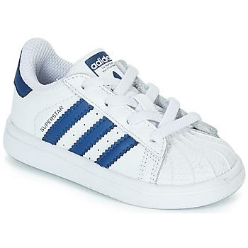 Chaussures Enfant Baskets basses adidas Originals SUPERSTAR EL Blanc / bleu