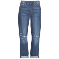 Vêtements Femme Jeans boyfriend G-Star Raw 3302 SADDLE MID BOYFRIEND Bleu Medium Aged Ripped