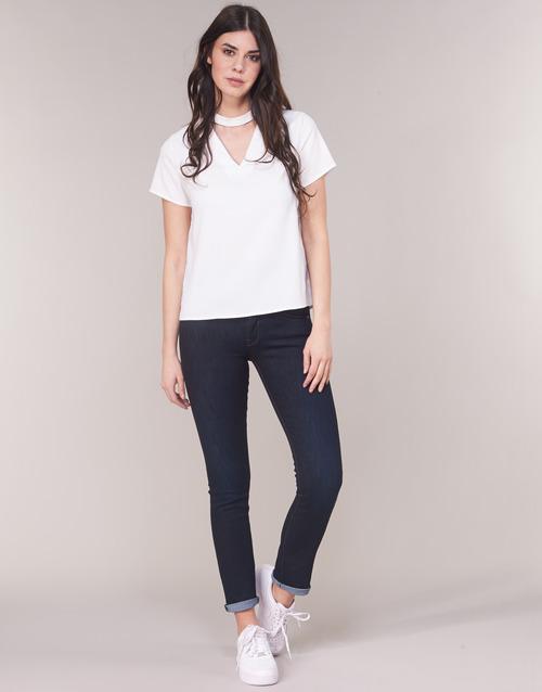 Vêtements Femme Jeans droit G-Star Raw MIDGE SADDLE MID STRAIGHT Bleu Dark Aged