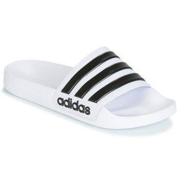 Chaussures Claquettes adidas Performance ADILETTE SHOWER Blanc / Noir