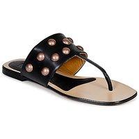 Chaussures Femme Tongs Keyté DELLIA Noir