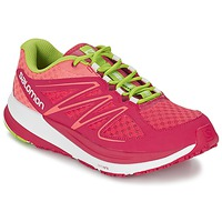 Chaussures Air max tnFemme Running / trail Salomon SENSE PULSE WOMAN Rose / Orange / Vert