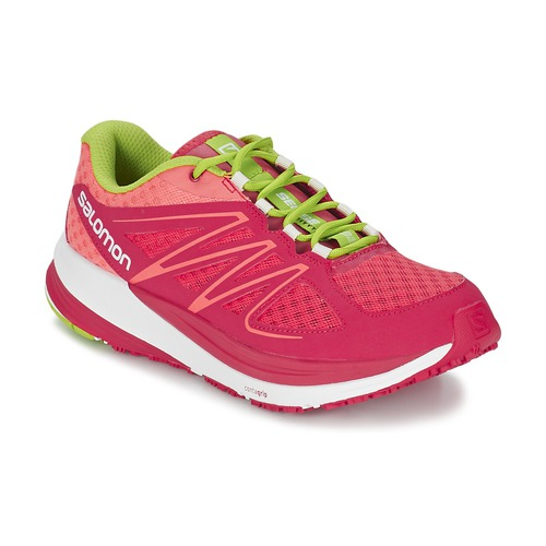 Chaussures Femme Running / trail Salomon SENSE PULSE WOMAN Rose / Orange / Vert