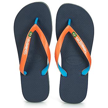 Chaussures Tongs Havaianas BRASIL MIX Marine / Orange