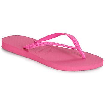 Chaussures Femme Tongs Havaianas SLIM Rose