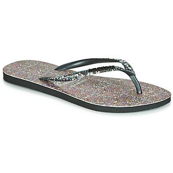 Chaussures Femme Tongs Havaianas SLIM CARNAVAL Noir