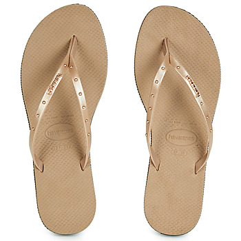 Chaussures Femme Tongs Havaianas YOU MAXI Rose Gold