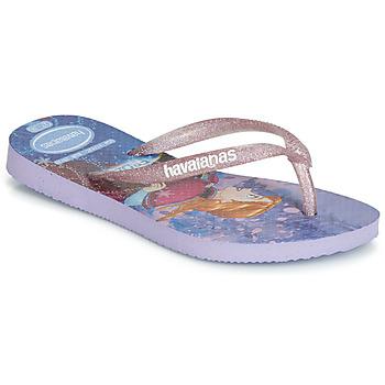 Chaussures Fille Tongs Havaianas KIDS SLIM FROZEN Violet