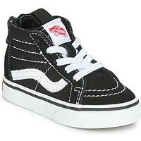 Chaussures Enfant Baskets montantes Vans SK8-HI ZIP Noir / Blanc