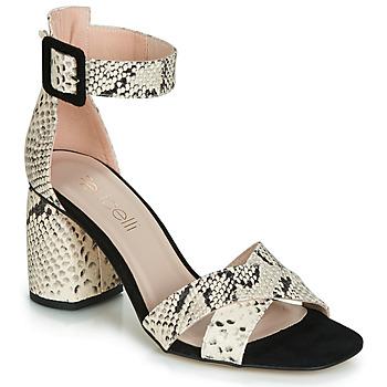 Chaussures Femme Sandales et Nu-pieds Fericelli JEZI Blanc / Noir