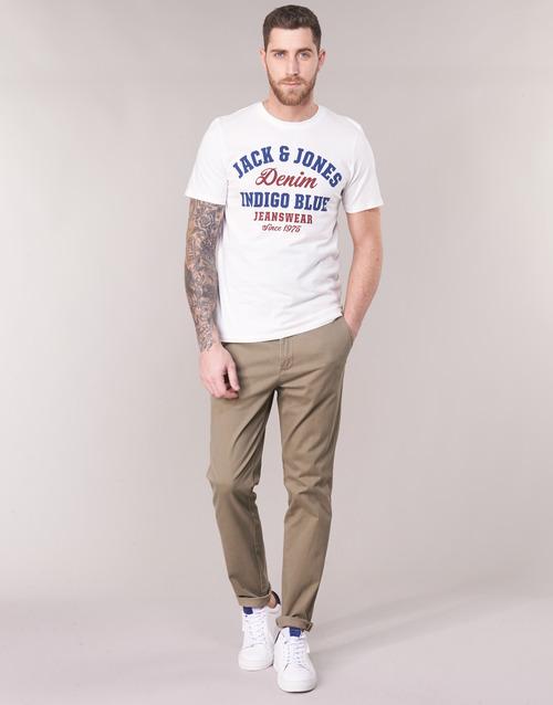 Vêtements Homme Chinos / Carrots Jack & Jones JJIMARCO Beige