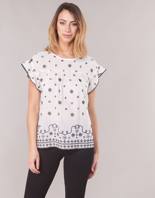 Vêtements Femme Tops / Blouses Maison Scotch SHORT SLEEVES SHIRT Blanc / Noir