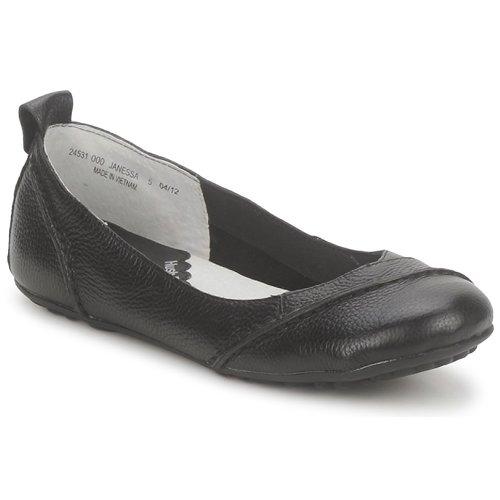 Chaussures Femme Ballerines / babies Hush puppies JANESSA Noir