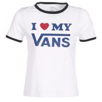 Vêtements Femme T-shirts manches courtes Vans VANS LOVE RINGER Blanc