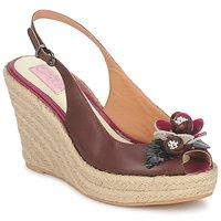 Chaussures Femme Sandales et Nu-pieds C.Petula GLORIA Marron / Fuchsia