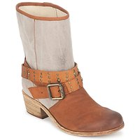 Chaussures Femme Bottes ville Ikks INES Marron / Taupe