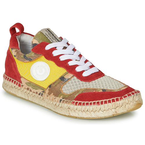 Chaussures Femme Baskets basses Pataugas MARCIA Jaune / Rouge