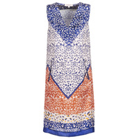 Vêtements Femme Robes courtes Derhy FORTERESSE Blanc / Bleu / Orange