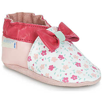 Chaussures Fille Chaussons bébés Robeez FLOWERY Blanc / Rose
