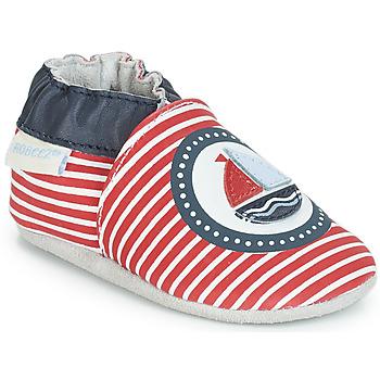 Chaussures Garçon Chaussons bébés Robeez MY CAPTAIN Rouge / Bleu / Blanc