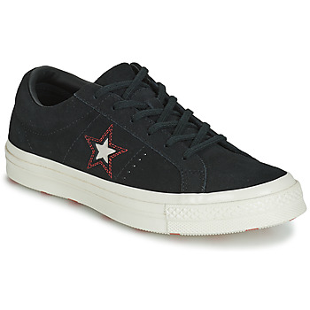 Chaussures Femme Baskets basses Converse ONE STAR LOVE IN THE DETAILS SUEDE OX Noir
