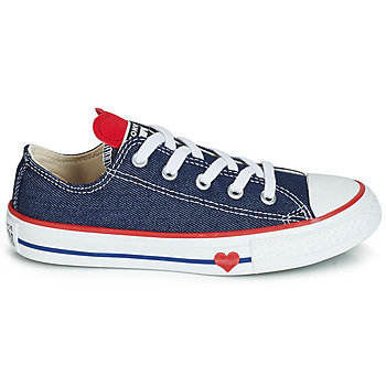 Baskets Basses enfant converse chuck taylor all star sucker for love denim ox