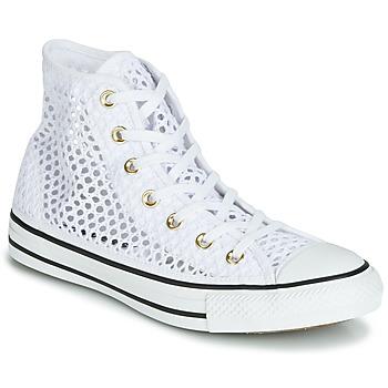 b3c78b2e713 Chaussures Femme Baskets montantes Converse CHUCK TAYLOR ALL STAR HANDMADE  CROCHET HI Blanc
