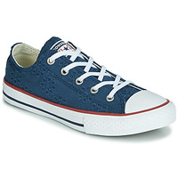 a805b26ee483e Chaussures Fille Baskets basses Converse CHUCK TAYLOR ALL STAR BROADERIE  ANGLIAS OX Marine