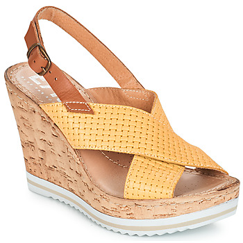 Chaussures Femme Sandales et Nu-pieds Elue par nous EMPIRE Jaune
