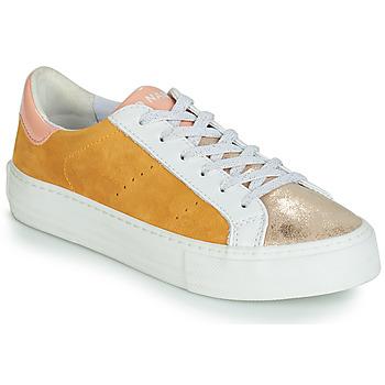 Chaussures Femme Baskets basses No Name ARCADE Blanc / Doré / Jaune