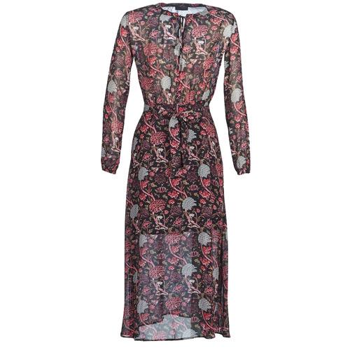 Vêtements Femme Robes longues Ikks BN30065-02 Noir / Rouge / Gris