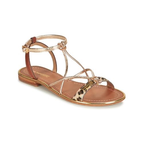 Chaussures Femme Sandales et Nu-pieds Les Tropéziennes par M Belarbi HIRONDEL Léopard / Doré