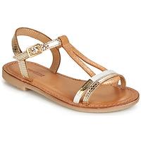 Chaussures Fille Sandales et Nu-pieds Les Tropéziennes par M Belarbi BADA Doré / Blanc