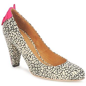 Chaussures Femme Escarpins Maloles CHRISTIA Noir / Blanc / Rose