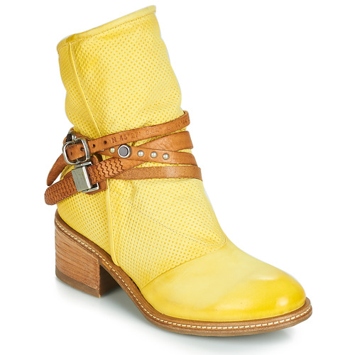 lower price with 61109 af962 Chaussures Femme Boots Airstep   A.S.98 WINNIE STRAP Jaune