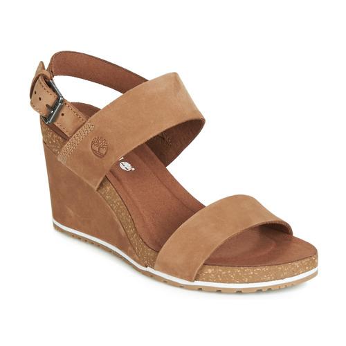 Chaussures Femme Sandales et Nu-pieds Timberland CAPRI SUNSET WEDGE Marron