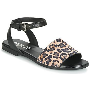 Chaussures Femme Sandales et Nu-pieds Mjus CHAT LEO Noir / Léopard