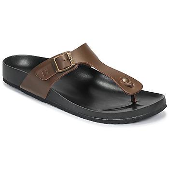 Chaussures Homme Tongs Dream in Green JAKALEX Marron
