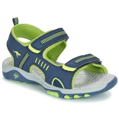 Chaussures Garçon Sandales et Nu-pieds Kangaroos K-LOGAN Marine / Vert