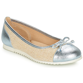 Chaussures Fille Ballerines / babies André RIVAGE Bleu / Beige